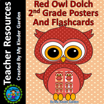 Red Owl  Dolch 2nd Grade High Frequency Sight Word Flashcards & Posters