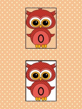 Red Owl Full Page Math Number Posters 0-100