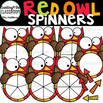Red Owl Spinners Clip Art Bundle {Fall Clip Art}