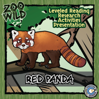 Red Panda - 15 Zoo Wild Resources - Leveled Reading, Slides & Activities