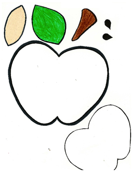 Red Pants Writing: Apple Visual Art Sequence & Worksheets
