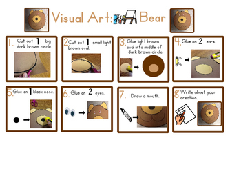 Red Pants Writing: Brown Bear Visual Art Sequence & Worksheets