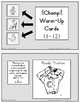 Red Pants Writing Champ Warm-Up Cards