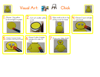 Red Pants Writing: Chick Visual Art Sequence & Worksheets