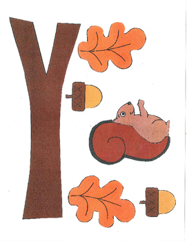 Red Pants Writing: Fall Squirrel Visual Art Sequence & Worksheets