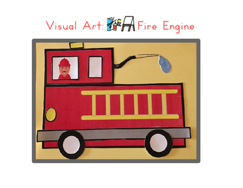 Red Pants Writing: Fire Engine Visual Art Sequence & Worksheets