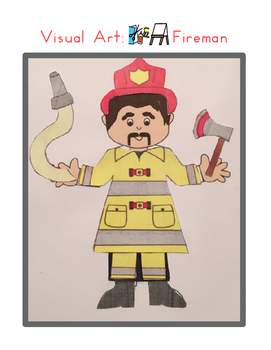 Red Pants Writing: Fireman Visual Art Sequence & Worksheets