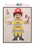 Red Pants Writing: Fireman Visual Art Sequence & Worksheets