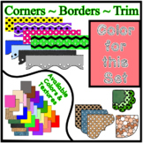 Red Pastel Borders Trim Corners *Create Your Own Dream Classroom/Daycare*