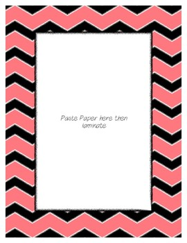Red Pastel Poster Frames * Create Your Own Dream Classroom / Daycare *