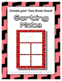 Red Pastel Sorting Mat Frames * Create Your Own Dream Clas