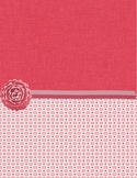 Red Patterned Binder cover
