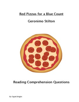 Red Pizzas for a Blue Count Reading Comprehension Questions