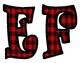 Red Plaid Bulletin Board Letters