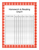 Homework and Reading Teacher Tracking Chart with Award Cer
