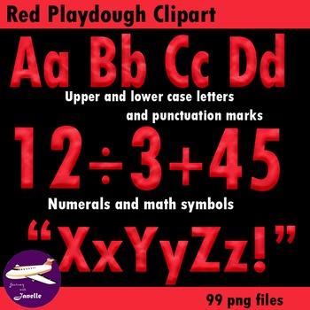 Red Playdough Look Alphabet Clipart for your Bulletin Boar