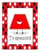 Red Polka Dot Shape Signs