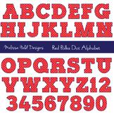 Clipart Alphabet: Red Polka Dot Alphabet Clip Art