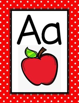 Red Polka Dot Alphabet Chart