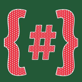 Red Polka Dot Alphabet Clip Art + Numerals, Punctuation and Math Symbols
