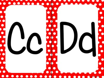 Red Polka Dot Alphabet (large)