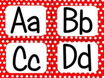 Red Polka Dot Alphabet (small)