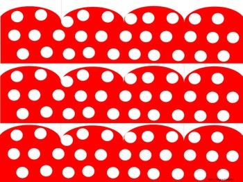 Red Polka Dot Border