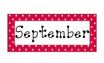 Red Polka Dot Calendar Months