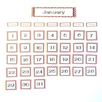 Red Polka Dot Calendar Set