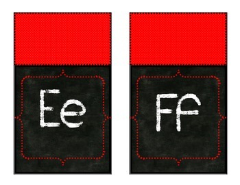 Red Polka Dot Chalkboard Alphabet