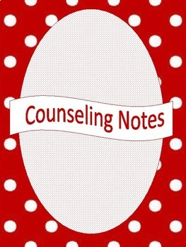 Red Polka Dot Counselor Binder Set (Editable)