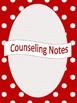 Red Polka Dot Counselor Binder Set (Editable)