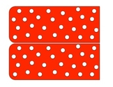 Red Polka Dot Library Pockets