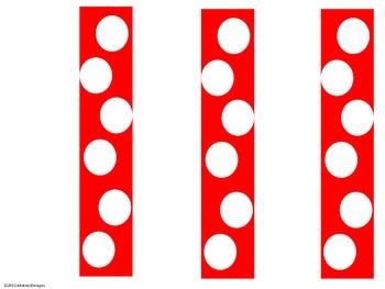 Red Polka Dot Name Plates