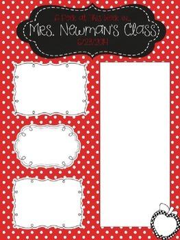 Red Polka Dot Newsletter Template - Editable