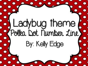 Red Polka Dot Number Line for your Ladybug Themed Classroom