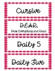 Red Polka Dot Schedule Cards with Time Cards