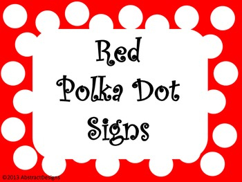 Red Polka Dot Signs