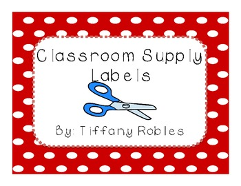 Red Polka Dot Supply Labels