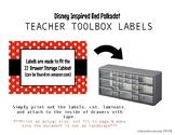 Red Polka Dot Teacher Toolbox Labels