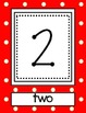 Red Polka Dot Wall Number Line