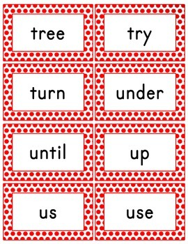 Red Polka Dot Word Wall (With Editable PDF) with Headers