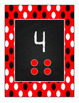 Red Polka Dot number posters 1-20