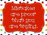 FREE RED Polka-Dot themed inspirational quotes
