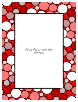 Red Poster Frames * Create Your Own Dream Classroom / Daycare *