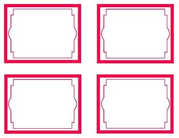 Red Printable Classroom Decor