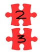 Red Puzzle Piece Line Up Visual 1-30