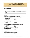 Red Pyramid Quiz Chapters 11-20