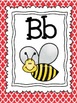 Red Quatrefoil Alphabet Cards