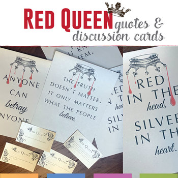 Red Queen Posters and Discussion Cards Freebie